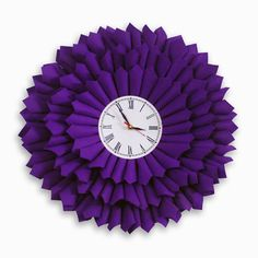 Bloom Purple Clock by Ichbaan,India.