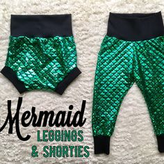 New option! With stretchy knit waistband! Mermaid Leggings, Baby Girl Leggings, Joy, Knitting, Trending Outfits, Handmade Gifts, Pants, Fashion, Kid Craft Gifts