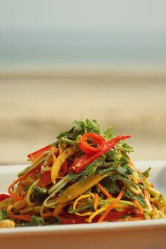Pad Thai salad with fresh chili