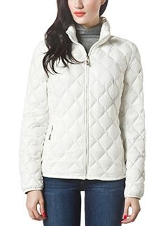 45cc9c984a0 XPOSURZONE Women Packable Down Quilted Jacket Lightweight Puffer Coat