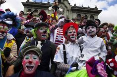 Participants in the fourth annual Latin America Clown Congress (AP)  http://news.yahoo.com/blogs/sideshow/latin-american-clown-congress-convenes-guatemala-211734735.html#