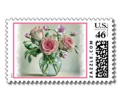 Shop Floral Shabby Chic Pink Rose & Purple Flowers created by merrybrides. Blog Backgrounds, Shabby Chic Pink, Personalized Note Cards, Wedding Invitation Sets, Flower Cards, Vintage Pink, Purple Flowers, White Envelopes, Postage Stamps