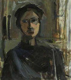 """janice nowinski - Self Portrait V, 18""""x16"""", oil on canvas, 2008"""