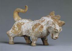 Fantastic Animal   1st - 3rd Century   Chinese   Seattle Art Museum   Ceramic with white slip