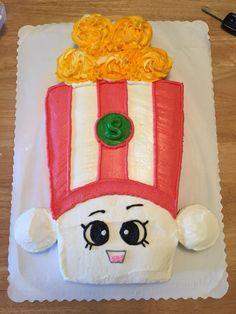 Poppy Corn Shopkins cake I made for Kaitlyn's 6th birthday.