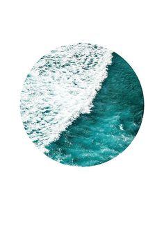 Seascape circle, affiche dans le groupe Affiches / Formats / 50x70cm chez Desenio AB (8500)