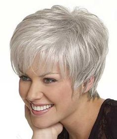 Amazing Silver Pixie Cut -- Wow! If I could look this good grey, I'd forget this nat. black!