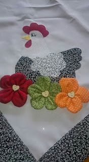 Mug Rug Patterns, Quilt Patterns Free, Applique Patterns, Applique Quilts, Flower Patterns, Sewing Patterns, Quilting Projects, Sewing Projects, Chicken Quilt