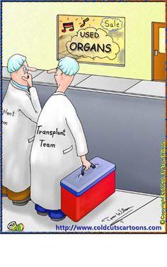 Organ transplant team