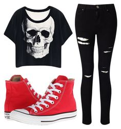 """""""outfit for killers"""" by aclua ❤ liked on Polyvore featuring Miss Selfridge and Converse"""