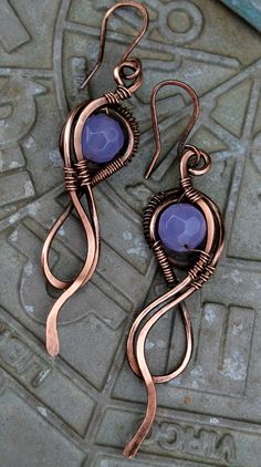 Amethyst and  copper,  Not my design...made for myself.  :)