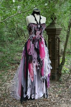 Buy Dream Bohemian Fantasy Steampunk Vampire Goth Witch Wedding Gown OOAK at Wish - Shopping Made Fun Pretty Dresses, Beautiful Dresses, Beautiful Beautiful, Gorgeous Dress, Witch Wedding, Mode Sombre, Mode Steampunk, Steampunk Witch, Steampunk Clothing