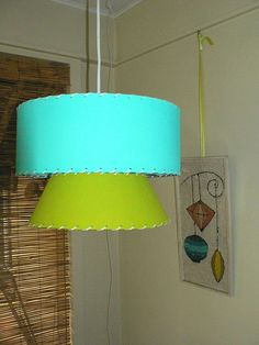 Retro Mid Century Atomic Style Hanging Swag Lamp by