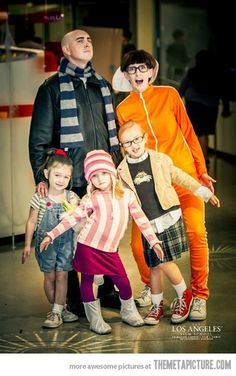 Took me a few seconds to get over the orange guy but then I got it!!  Despicable Me family costume