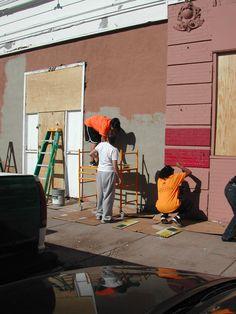 Retaining the beautiful building at Las Vegas, New Mexico