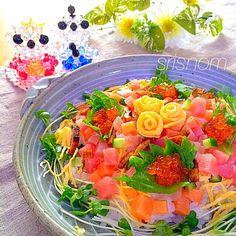 なお's dish photo ひなまつり   ちらし寿司 | http://snapdish.co #SnapDish #ひな祭りお寿司グランプリ2015 #ひな祭り #お寿司