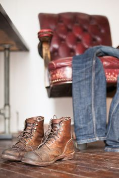 """tristanwheelock: """" My Red Wing Iron Rangers after a year and a half of abuse. """""""