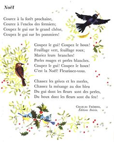 Noël (poème de Charles Frémine) French Poems, French Quotes, French Practice, French Language Learning, Primary Education, Learn French, Fun Facts, French Tips, French People