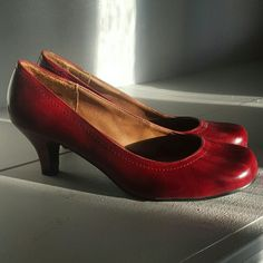 "Madden Girl Ruby Red Pumps 1.5"" heel Madden Girl Shoes Heels"