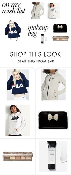 """Untitled #3"" by sara-myllymaa on Polyvore featuring beauty, Fila, NIKE, Hollister Co., Ted Baker and Urban Decay"