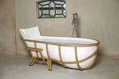 freistehende badewanne kopflehne weiß holz
