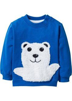 Baby Sweatshirt Bio-Baumwolle, bpc bonprix collection, azurblau