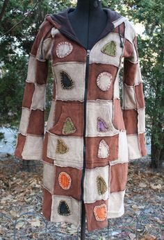 Nepal Napalese hippie patchwork coat long hoodie cotton lined