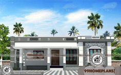 Single Floor Homes with Simple Residential House Plans Having Single Floor, 3 Total Bedroom, 3 Total Bathroom, and Ground Floor Area is 1550 sq ft, Hence Total Area is 1700 sq ft Flat Roof House Designs, House Front Wall Design, Single Floor House Design, Village House Design, Duplex House Design, Kerala House Design, Duplex House Plans, Simple House Design, Garage House Plans