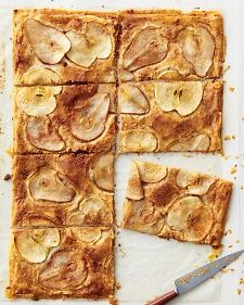 MARTHA STEWART - PEAR AND APPLE PHYLLO CRISP - Layering pecans between sheets of store-bought phyllo adds a nice crunch to this tart's flaky foundation.
