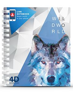 Live Notebooks - For the first time ever notebook cover come to life! #autumn #wolf