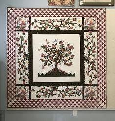Matthew's Tree of Life Medallion Quilt, Tree Quilt, Suzy, Tree Of Life, Applique, Quilting, Blanket, Ideas, Home Decor