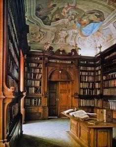 Capuchin monastery library, Brno (Czech Republic).
