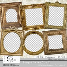 Antique frames CU - 2 by Cajoline-Scrap CU, Digital scrap designs for Commercial Use Scrapbooking; #CUDigitals, #digiscrap, #digitalscrapbooking,
