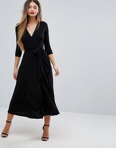 ASOS Wrap Maxi Dress | £38.00 | 96% Polyester, 4% Elastane