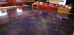 coloured glitter epoxy resin old furniture - Google Search