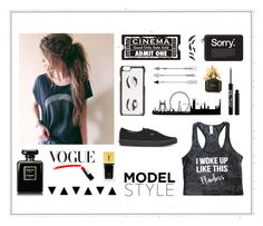 """Black Flawlessness"" by amanda2002-608 ❤ liked on Polyvore featuring Casetify, Kate Spade, Chanel, Yves Saint Laurent, Vans, Lulu Guinness, Urban Decay and Marc Jacobs"