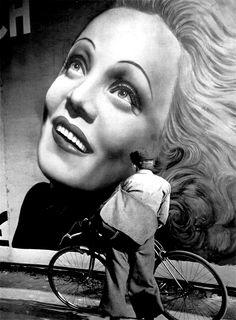 Brassai, Poster of Marlene Dietrich, Paris 1937