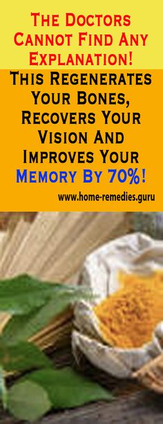 The Doctors cannot find any explanation! This regenerates your #bones, recovers your vision and improves your #memory by 70%! #remedy #health #healthTip #remedies #beauty #healthy #fitness #homeremedy #homeremedies #homemade #trends #HomeMadeRemedies #Viral #healthyliving #healthtips #healthylifestyle #Homemade