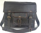 Handmade leather messenger bag/ cross body/ by leatherpassionkomal
