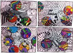 Grade 5/6 doodles - Simple, great for a supply teacher!