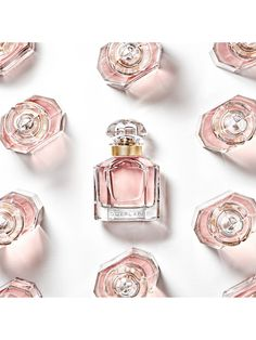 Mon Guerlain, the House's new fragrance, is a tribute to today's femininity - a strong, free and sensual femininity, inspired by Angelina Jolie. Parfum Guerlain, Fragrance Parfum, Angelina Jolie, Invisible Tattoo, Parfum Flower, Aqua, New Fragrances, Makeup Collection, Lavender