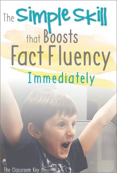 The Simple Skill that Boosts Fact Fluency Immediately, especially for first and second grade math teachers Math Fact Fluency, Eureka Math, Math School, Math Intervention, Math Strategies, Math Addition, Second Grade Math, Guided Math, Math 2