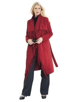 Jessica London Plus Size Jessica London Plus Size Fringed Drape Coat   $129.99   Buy at Your-Online-Fashion.com
