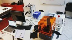 Re-setting up the 3D printing workshop at #fablabcr #DAR