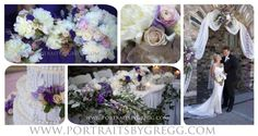 Pastel Wedding flowers. Castle Farms, Charlevoix, MI. Portraits by Gregg