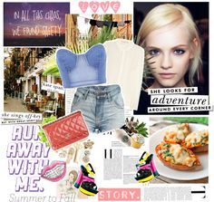 """""""Summer to fall))))Double Denim"""" by dashamalevich ❤ liked on Polyvore"""