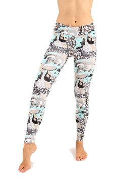 SIZE US 8 UK 10 - Marine Printed leggings $25 Boutique Stores, Yoga Wear, Printed Leggings, Cotton Spandex, Harem Pants, Usa, How To Wear, Beautiful, Fashion
