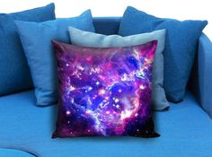 Nebula Galaxy Star  These soft pillowcase made of 50% cotton, 50% polyester.  It would be perfect to decorate your home by using our super soft pillow cases on sofa, chair, bench or bed.  Customizable pillow case is both comfortable and durable, improving the quality of your sleep with these comfortable pillow case, take it home now!  Custom Zippered Pillow Cases available in 7 different size (16″x16″, 18″x18″, 20″x20″, 16″x24″, 20″x26″, 20″x30″, 20″x36″)