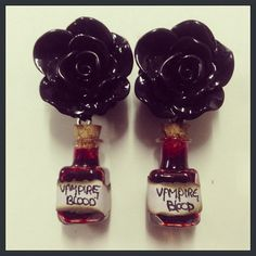 Vampire Blood Rose Ear Plugs