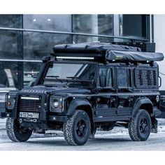 Like the top LED lights. The bumper is my second favourite style Landrover Defender, Defender Camper, Land Rover Defender 110, Pick Up, Bug Out Vehicle, Off Road Adventure, Expedition Vehicle, Mustang, Land Cruiser